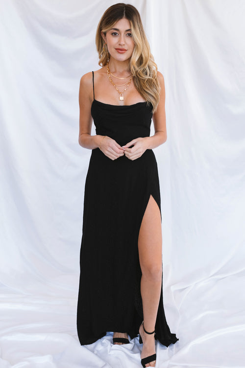 Hartley Maxi Dress-Black