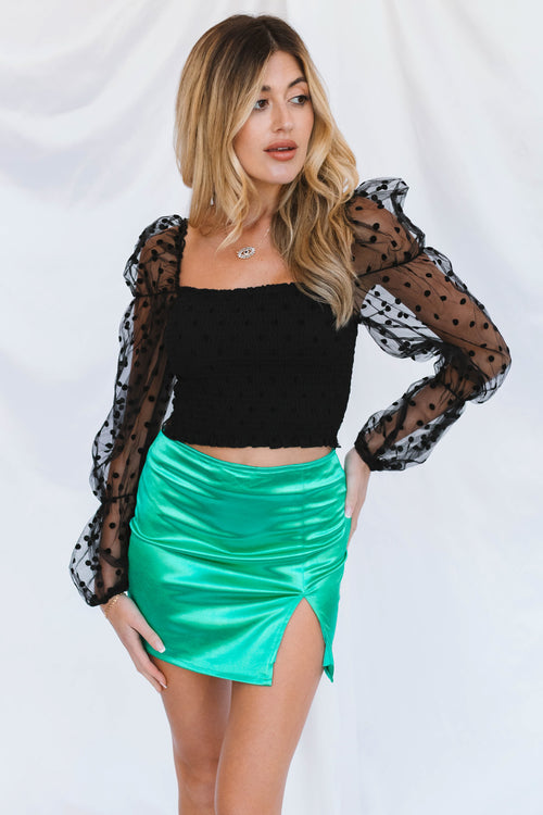 City Life Skirt-Emerald