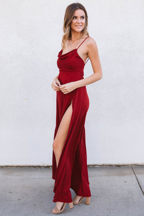 Hartley Maxi Dress-Burgundy