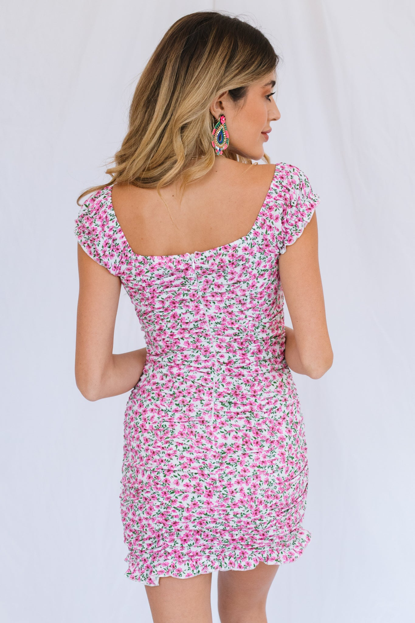 Shania Dress-Pink Floral