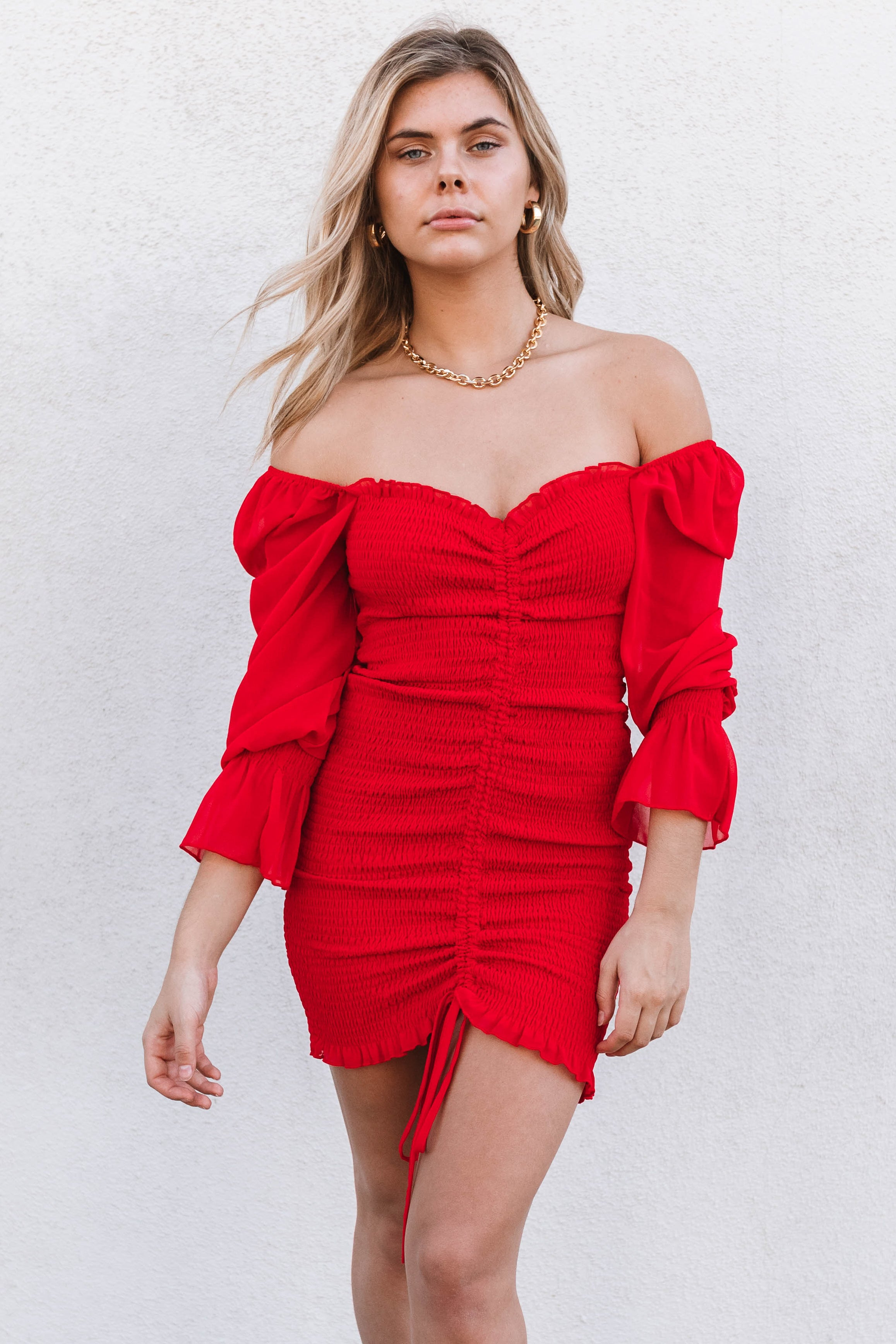 Steal My Heart Dress-Red