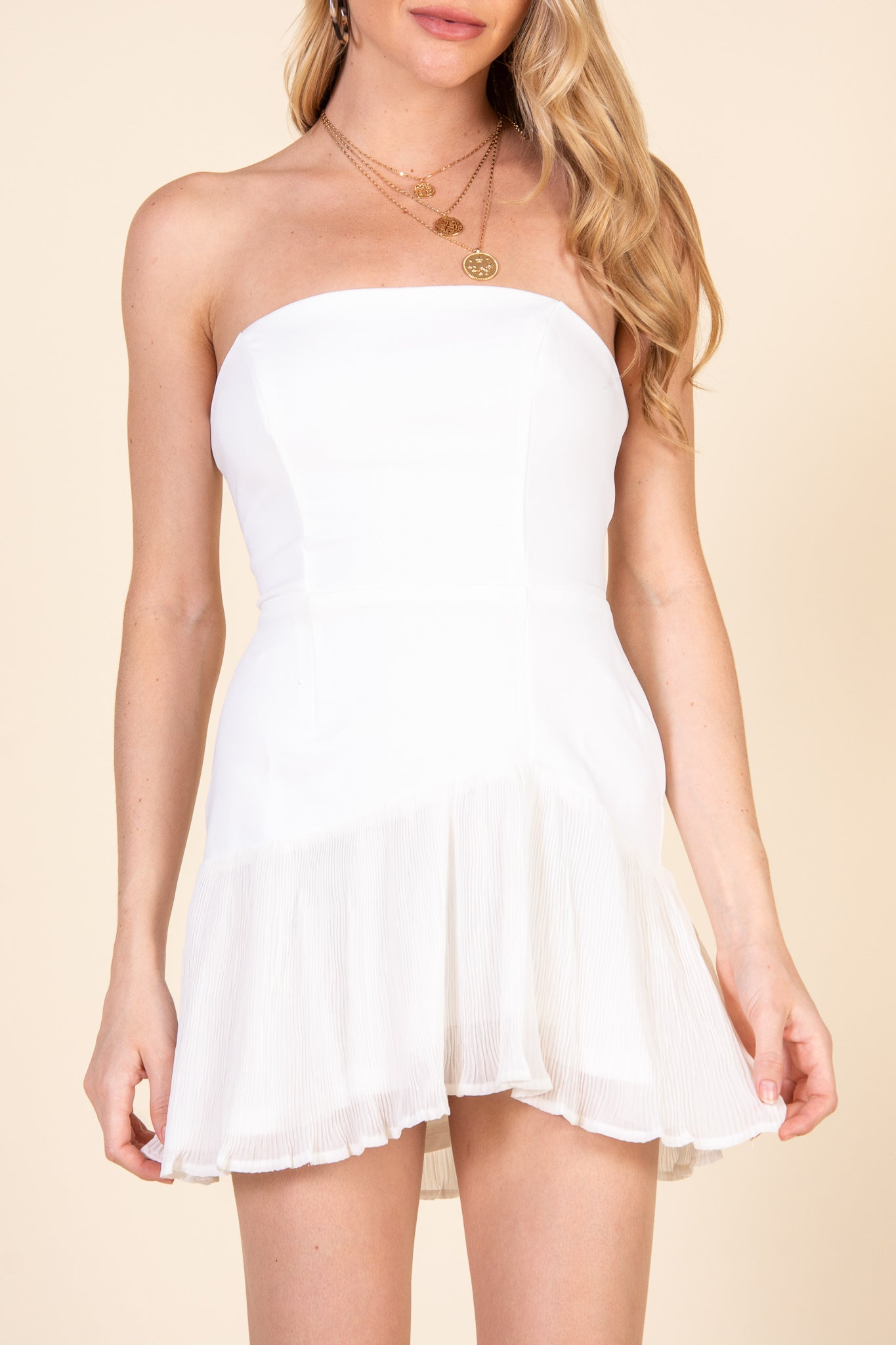 Minaj Dress-White