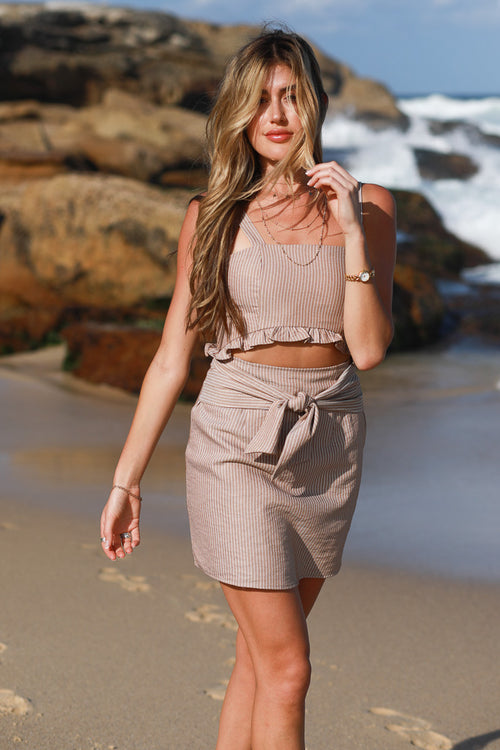 Manly Wharf Dress-Beige