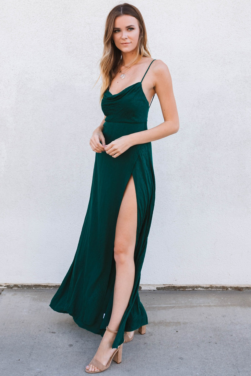 Hartley Maxi Dress-Forest