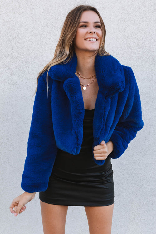 Halston Jacket-Royal