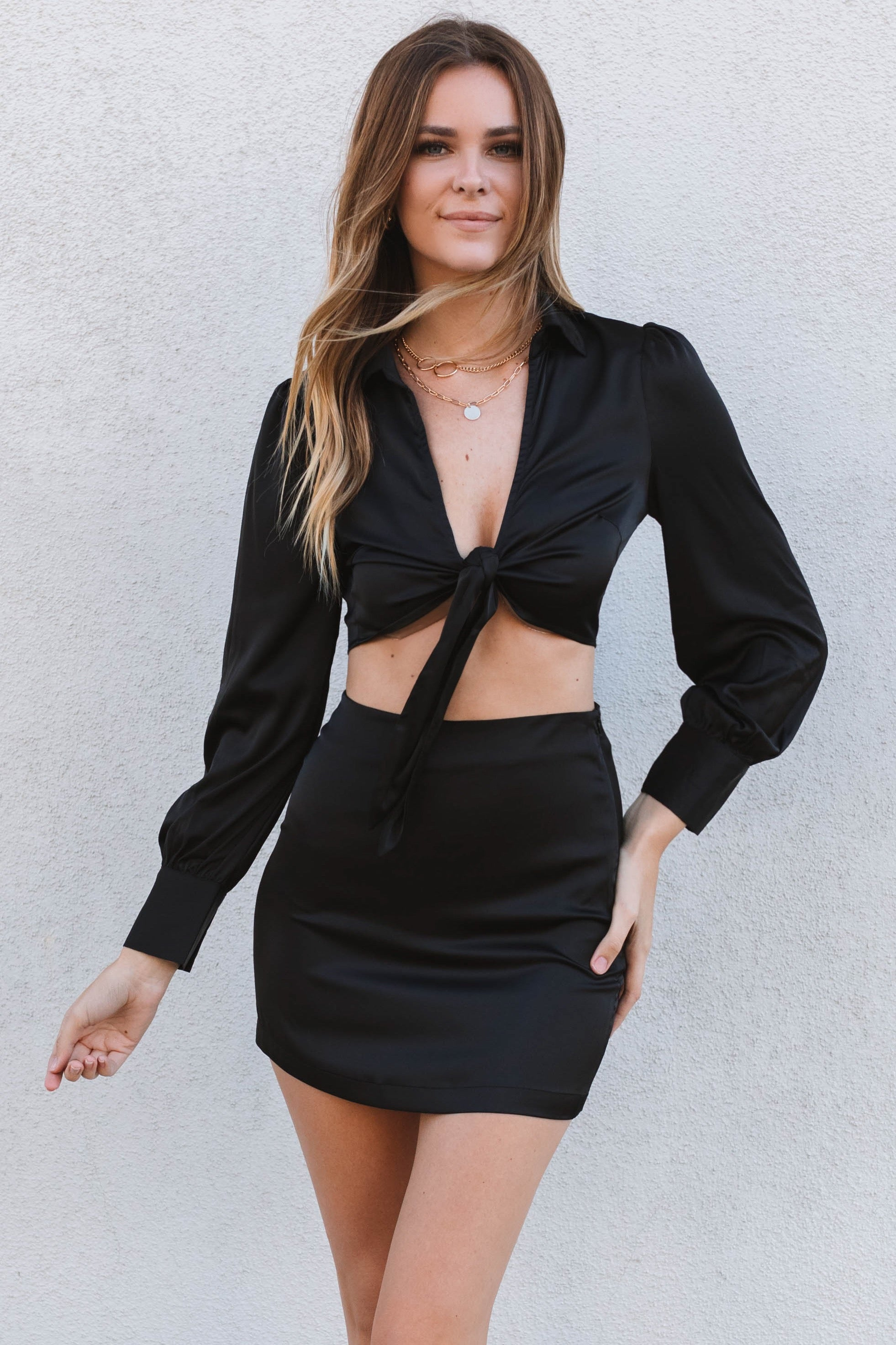 We Belong Together Dress Set-Black