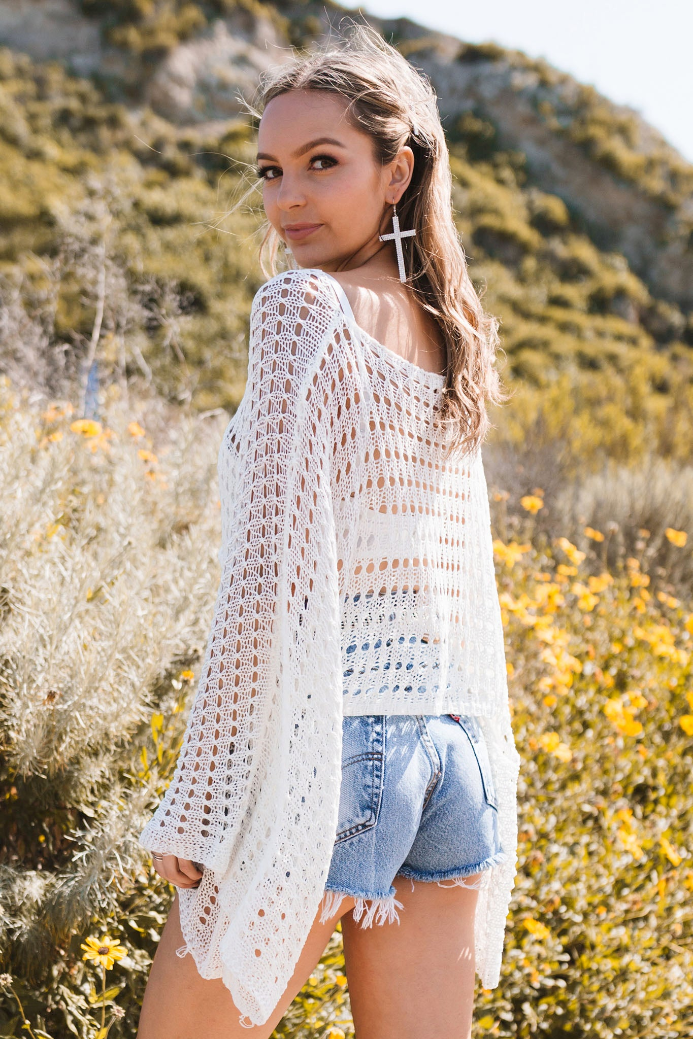 Desert Gypsy Top-White