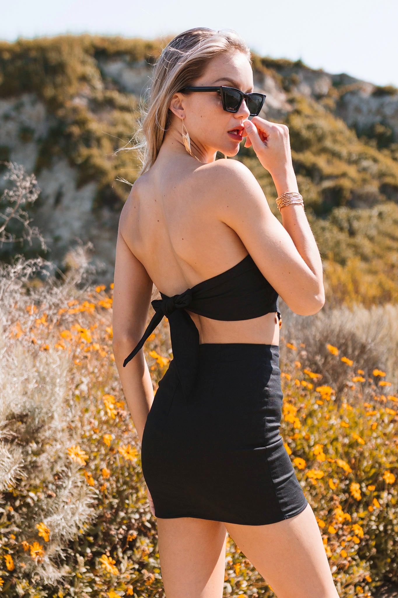 Meet Me In The Desert Dress Set-Black