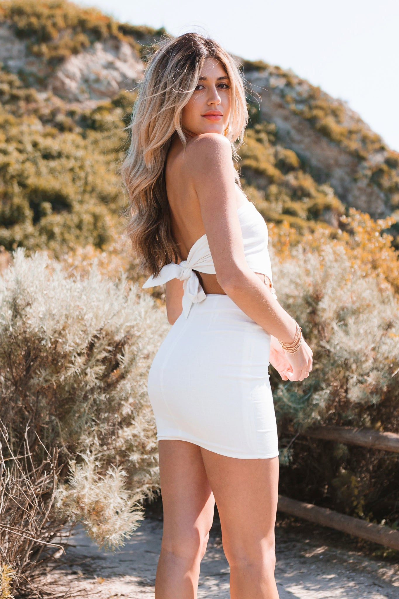 Meet Me In The Desert Dress Set-White