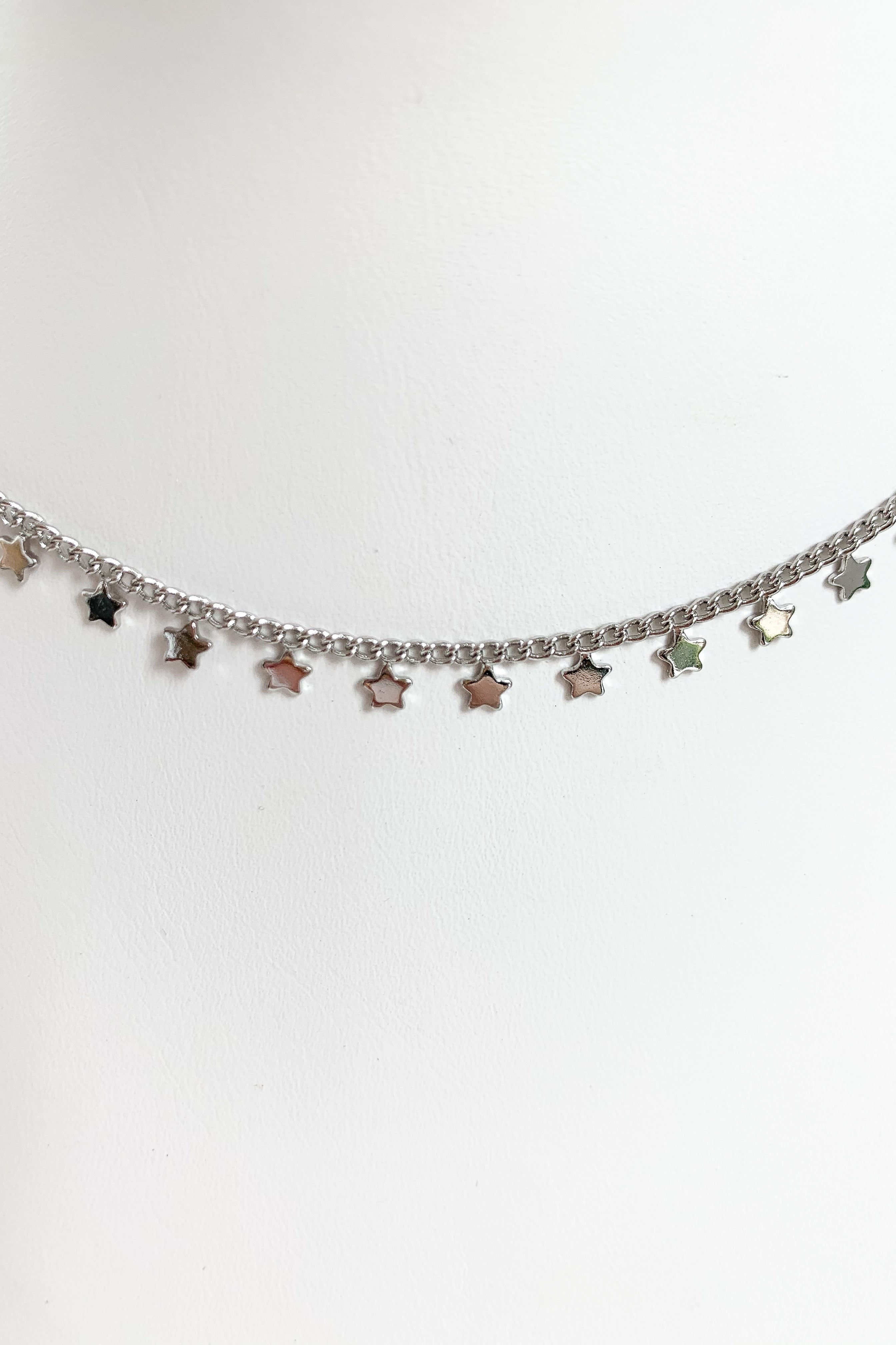 Star Lineup Necklace-Silver