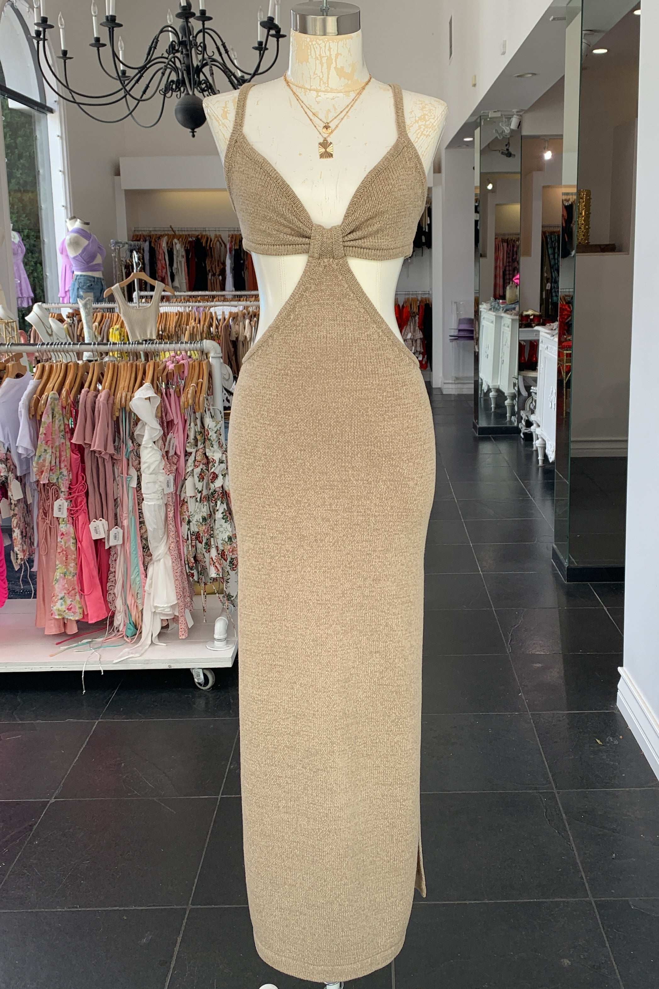 Tulum Maxi Dress-Taupe