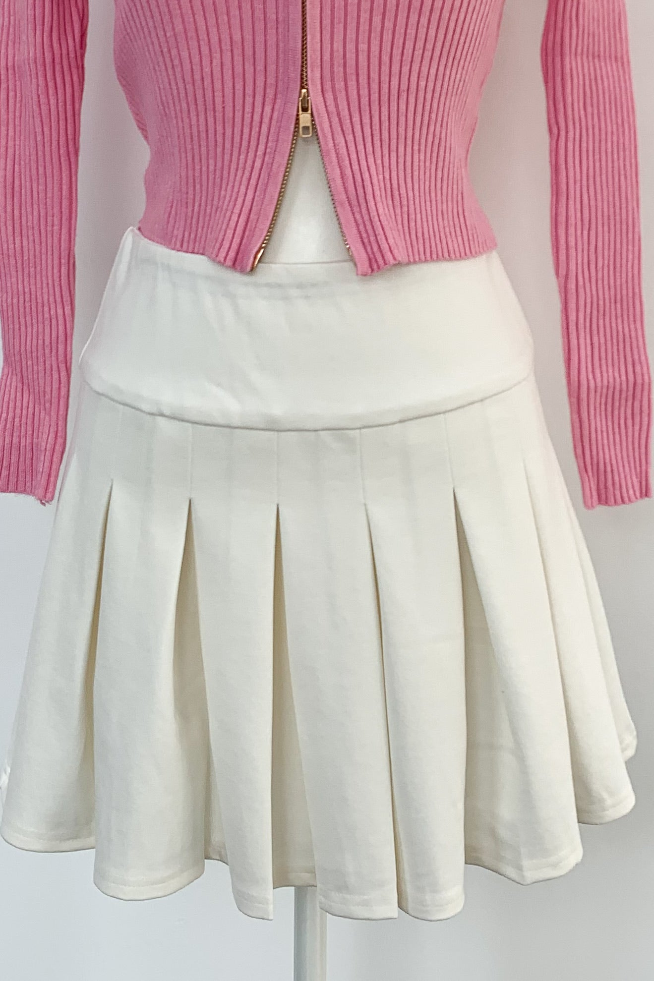 Tennis Match Skirt-White
