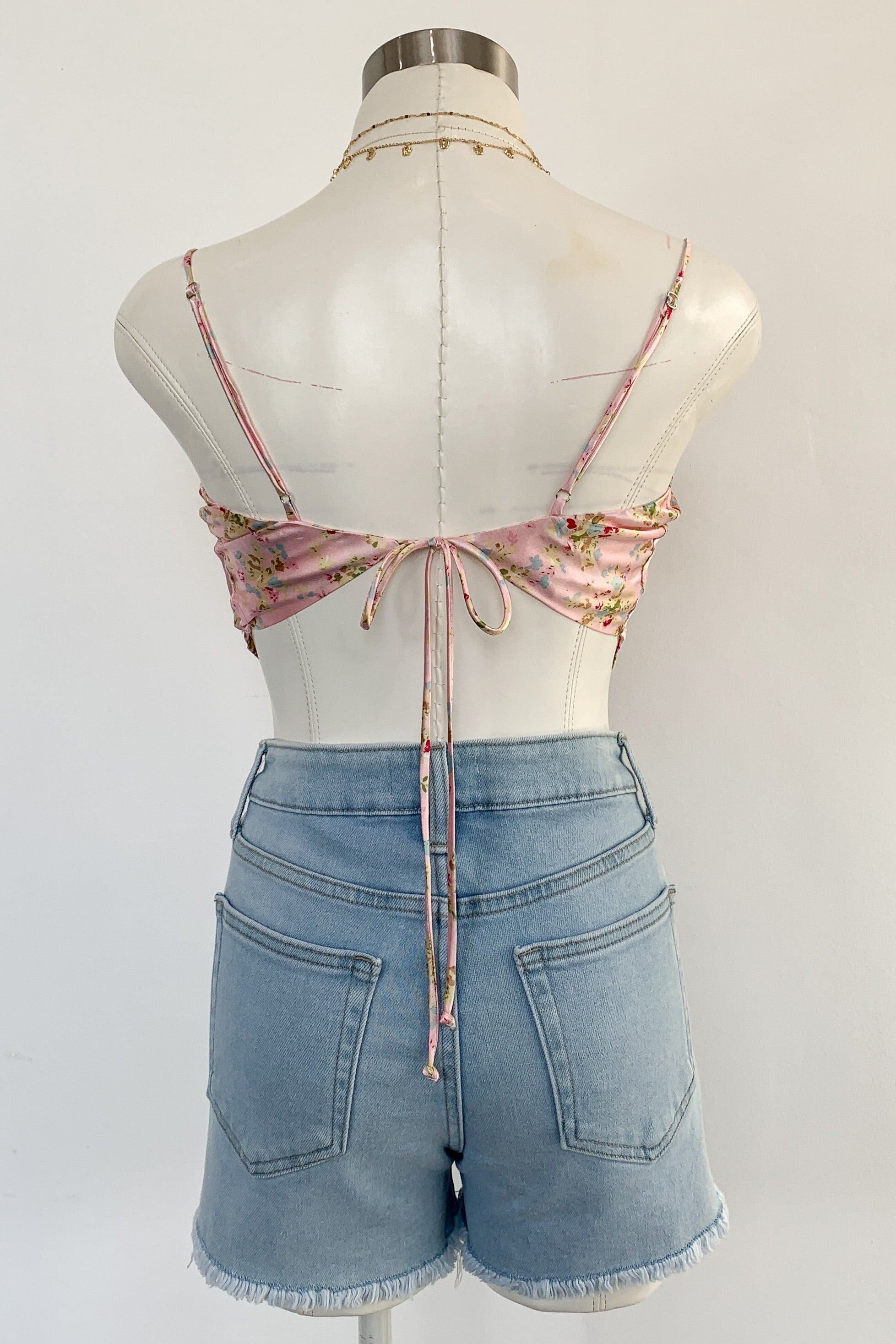 Dallas Scarf Top-Petal Pink