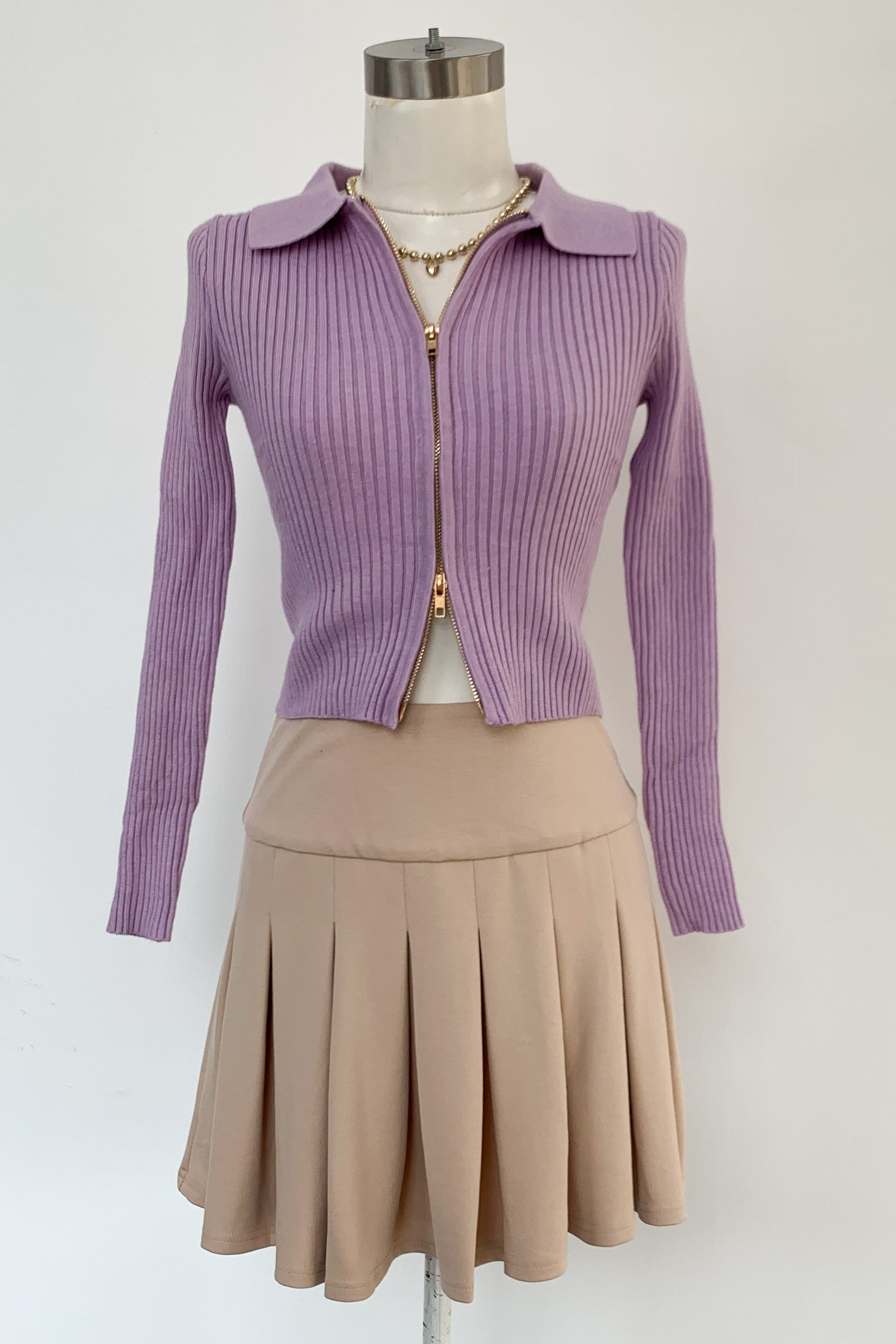 Up or Down Sweater-Lavender