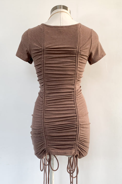 Close To Me Dress-Mocha
