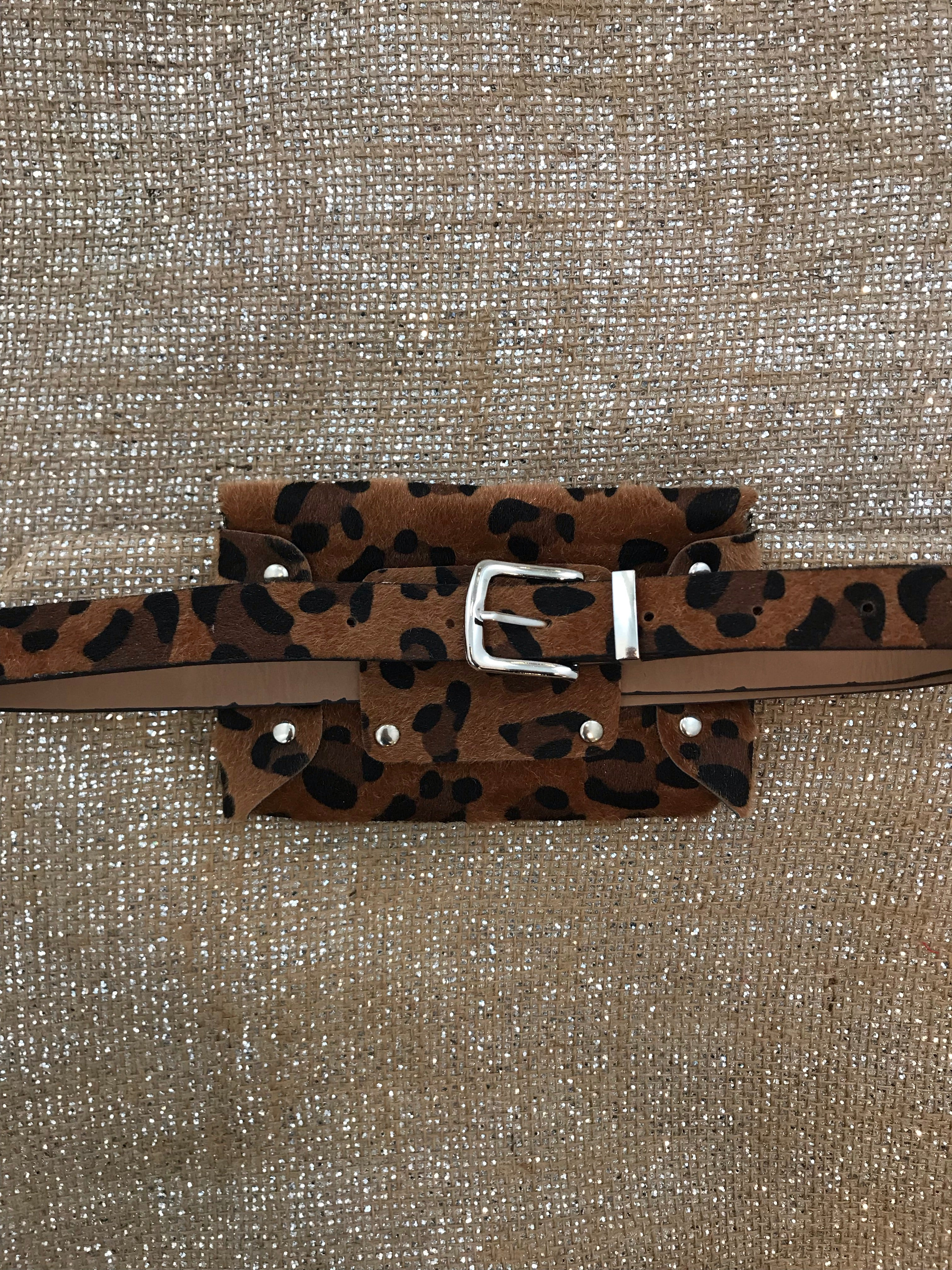 Leopard Belt Bag-Tan