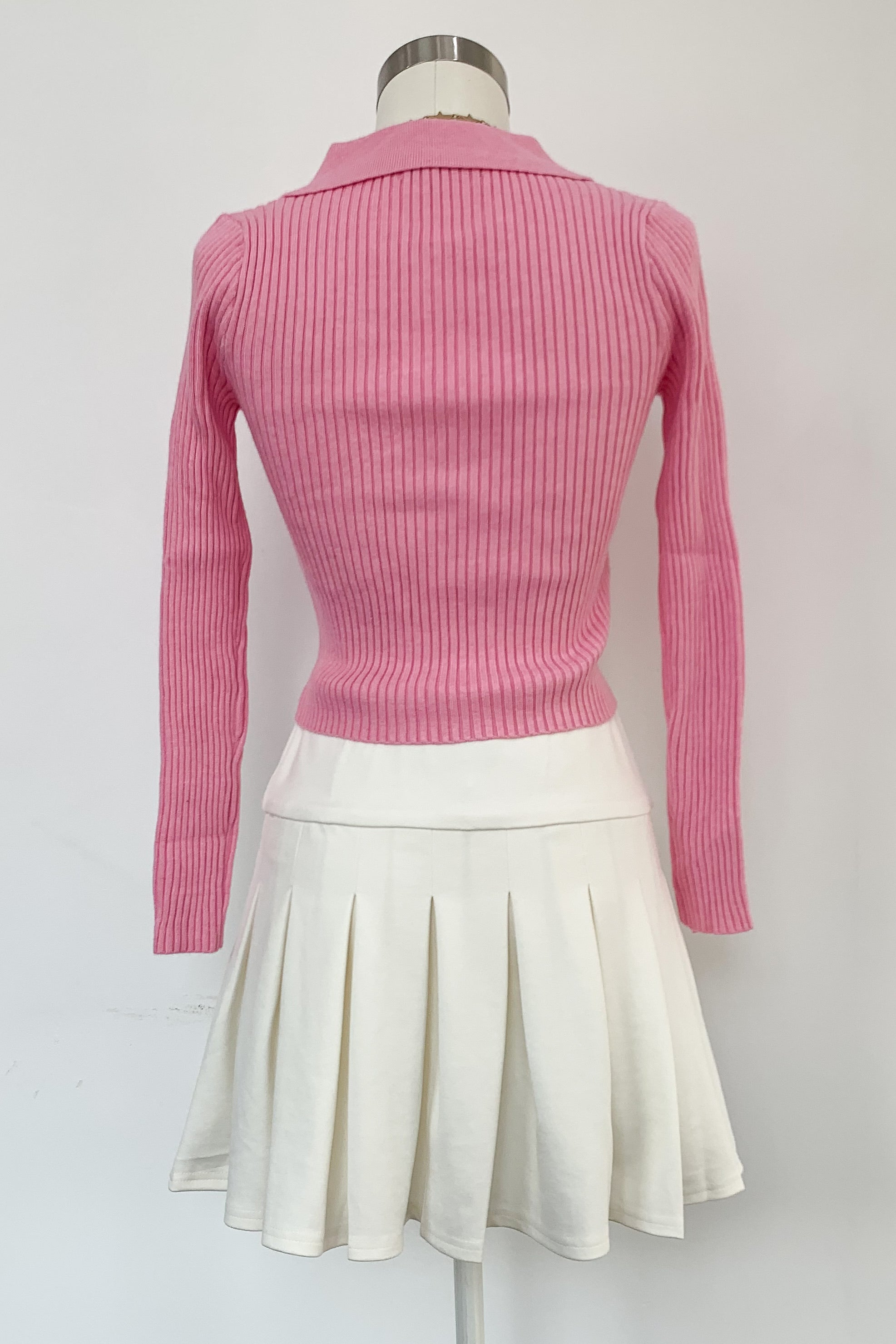 Up or Down Sweater-Pink