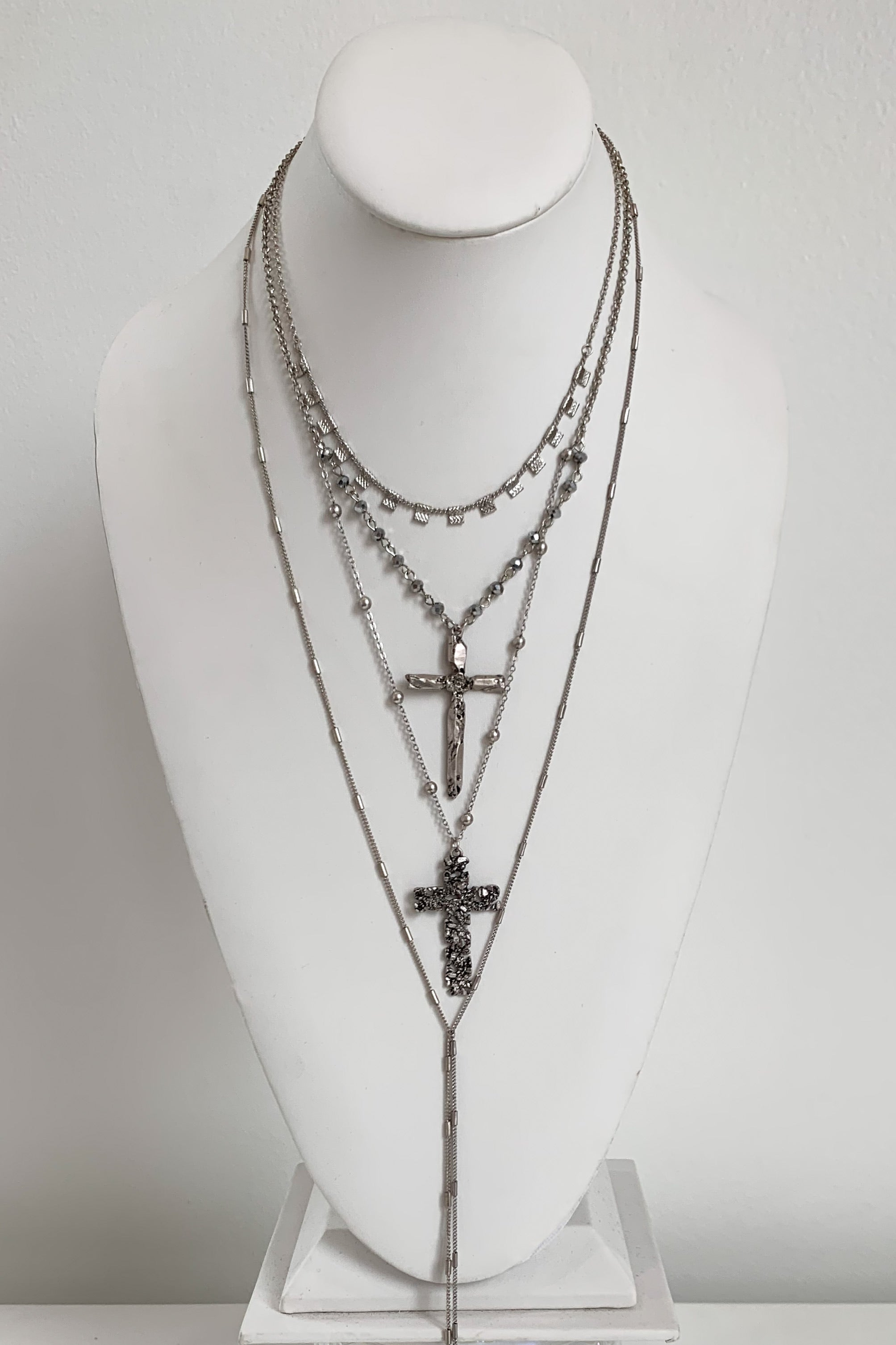 Like A Prayer Necklace-Silver