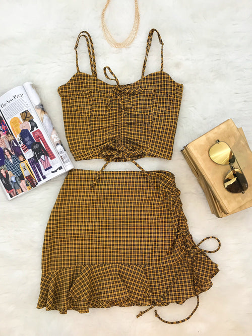 My Youth Is Yours Dress Set-Mustard