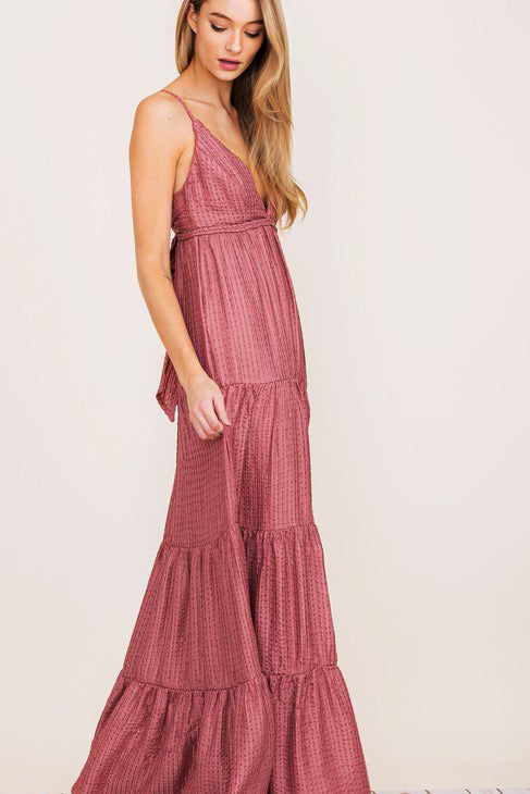 Santa Rosa Maxi Dress-Dusty Pink