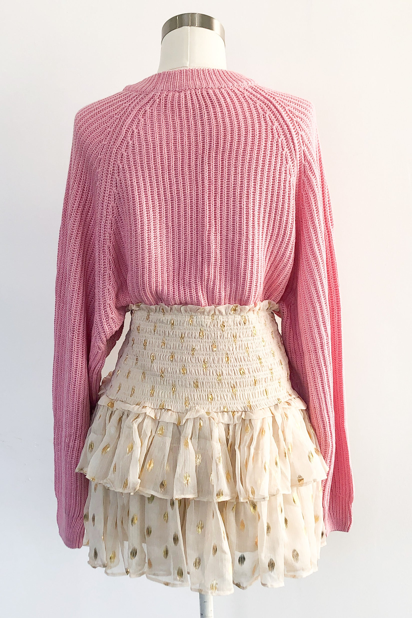 Francesca Ruffle Skirt-Cream