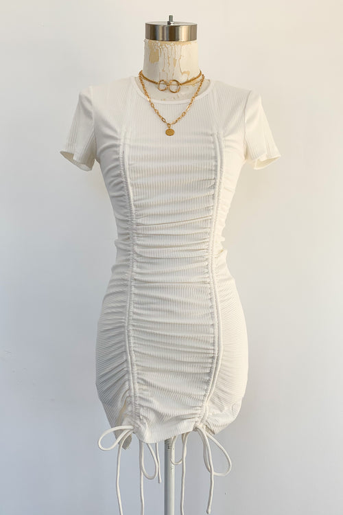 Close To Me Dress-Off White