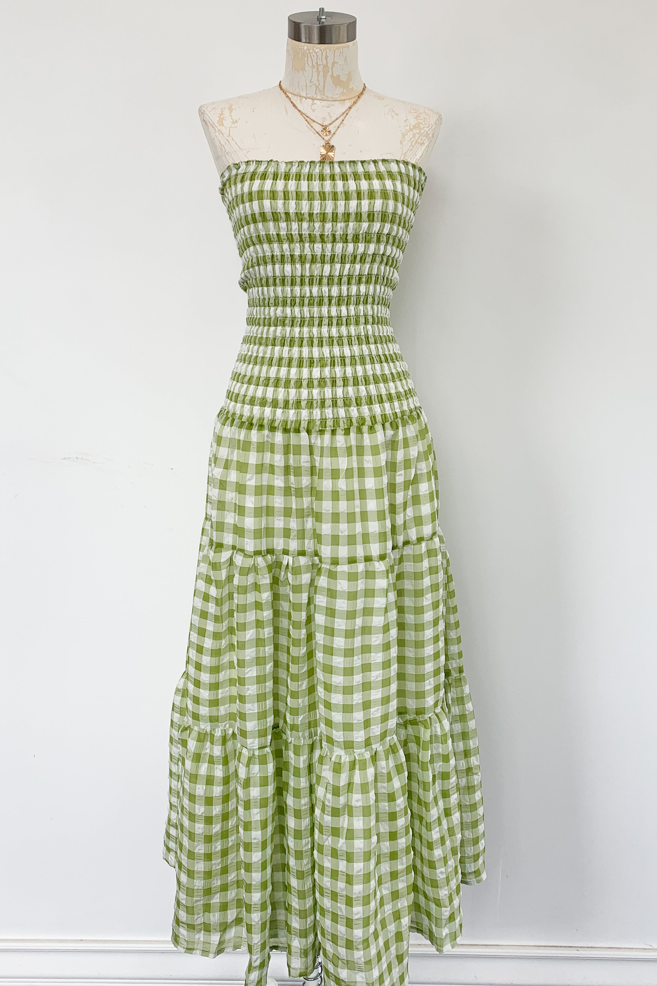 Ella-Mae Dress-Lime