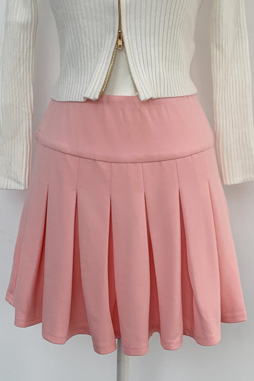 Tennis Match Skirt-Pink