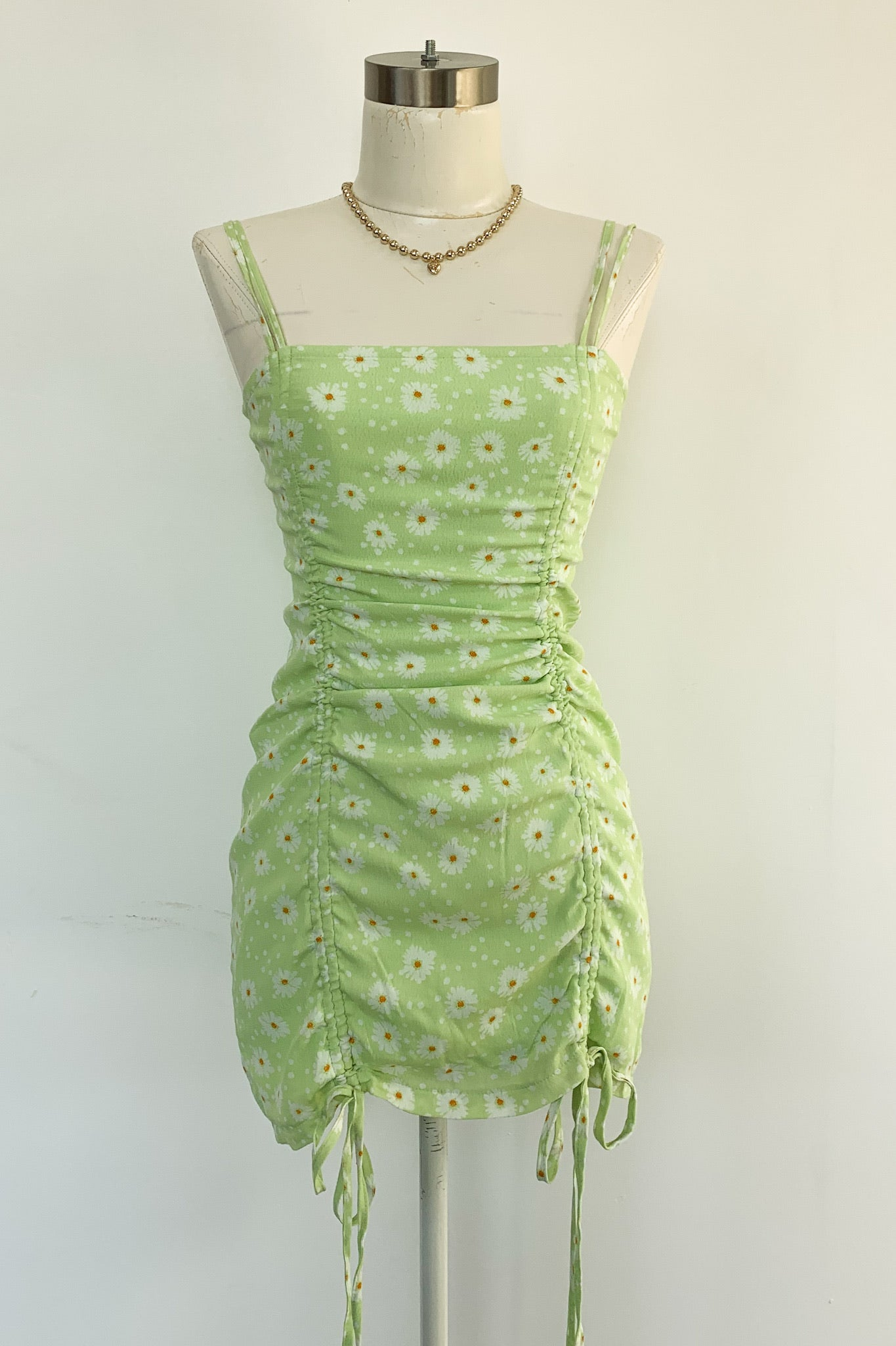 Loretta Dress-Lime Daisy