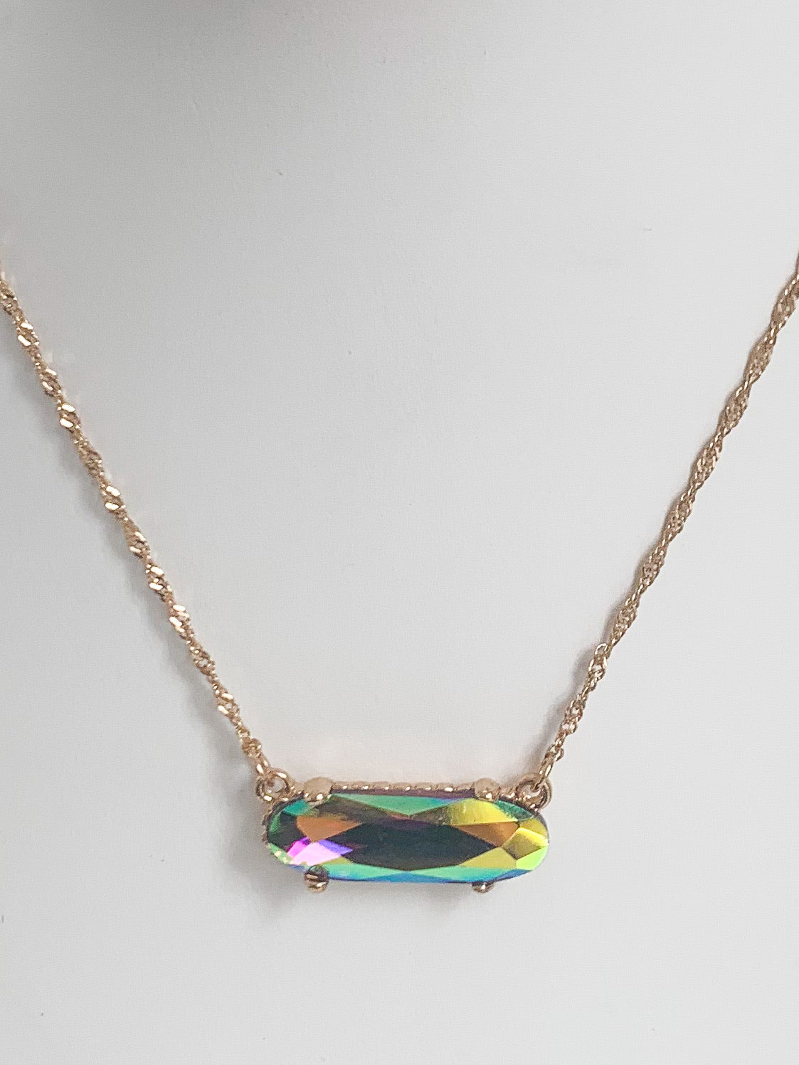 Black Rainbow Necklace