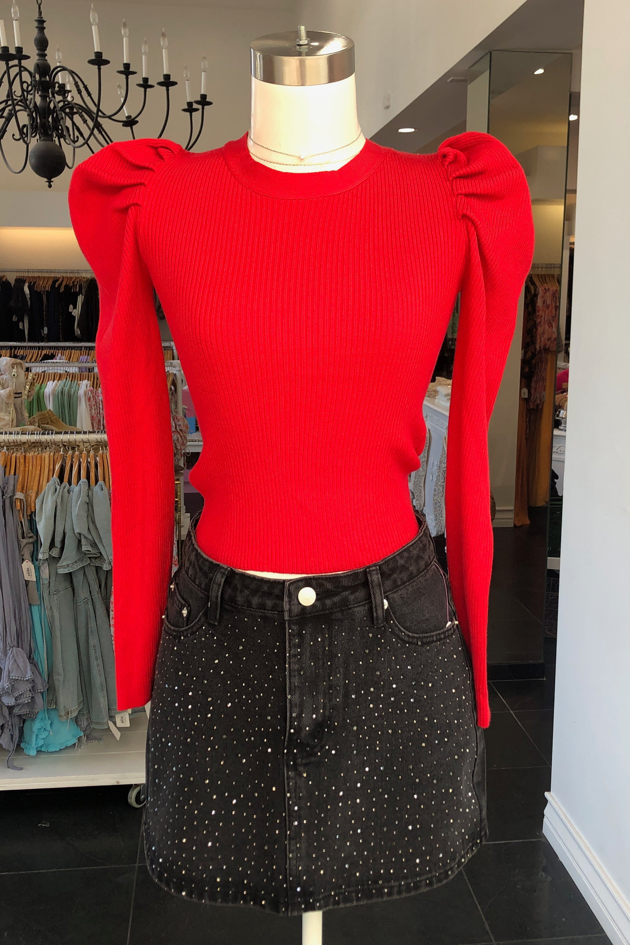Astrid Sweater-Red