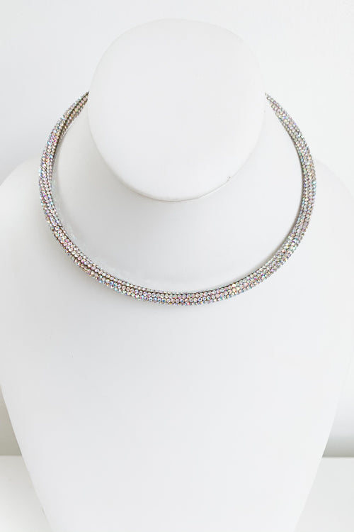 Mirage Necklace-Iridescent Crystal