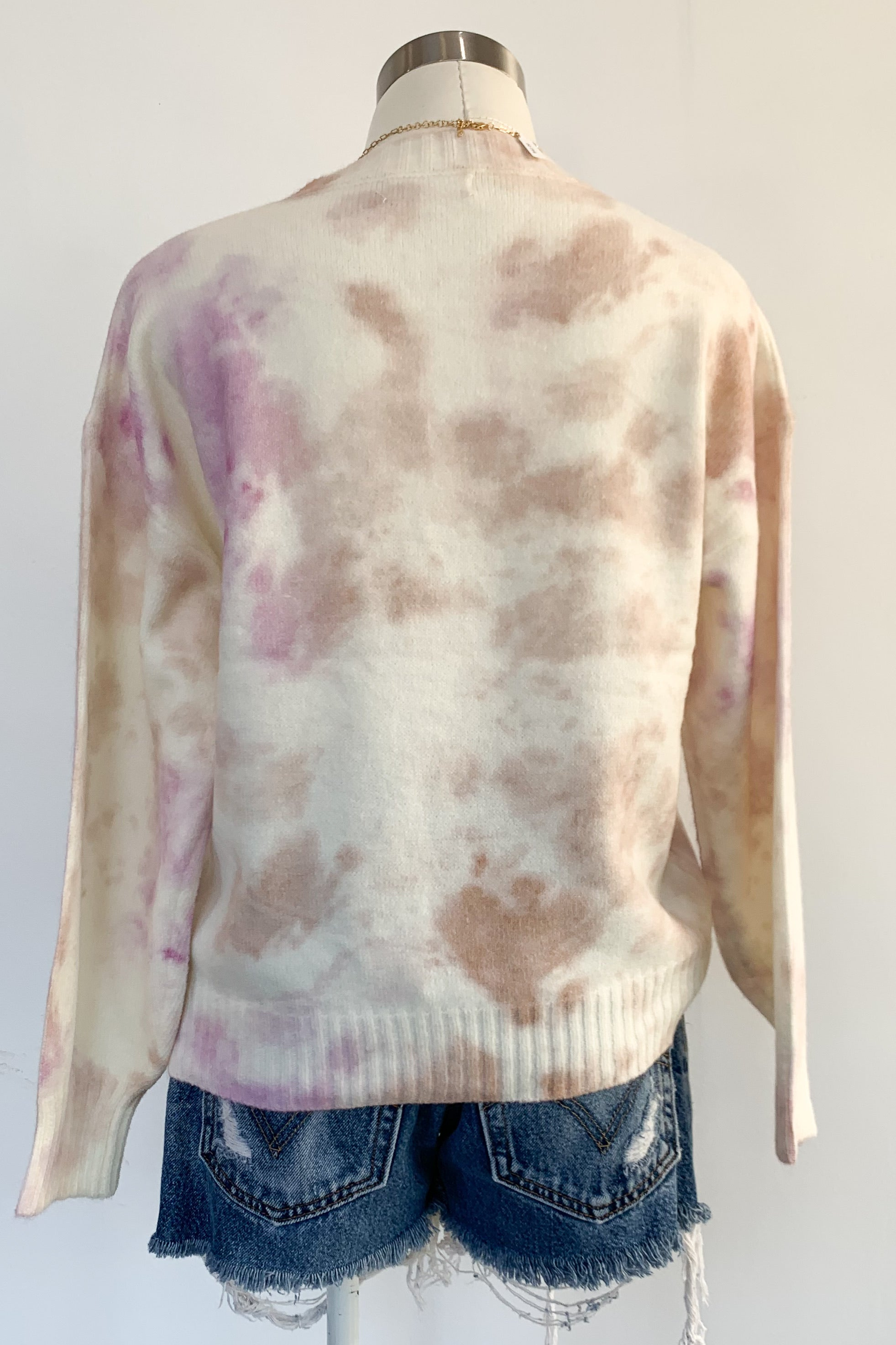 Ferguson Sweater-Tan & Lavender
