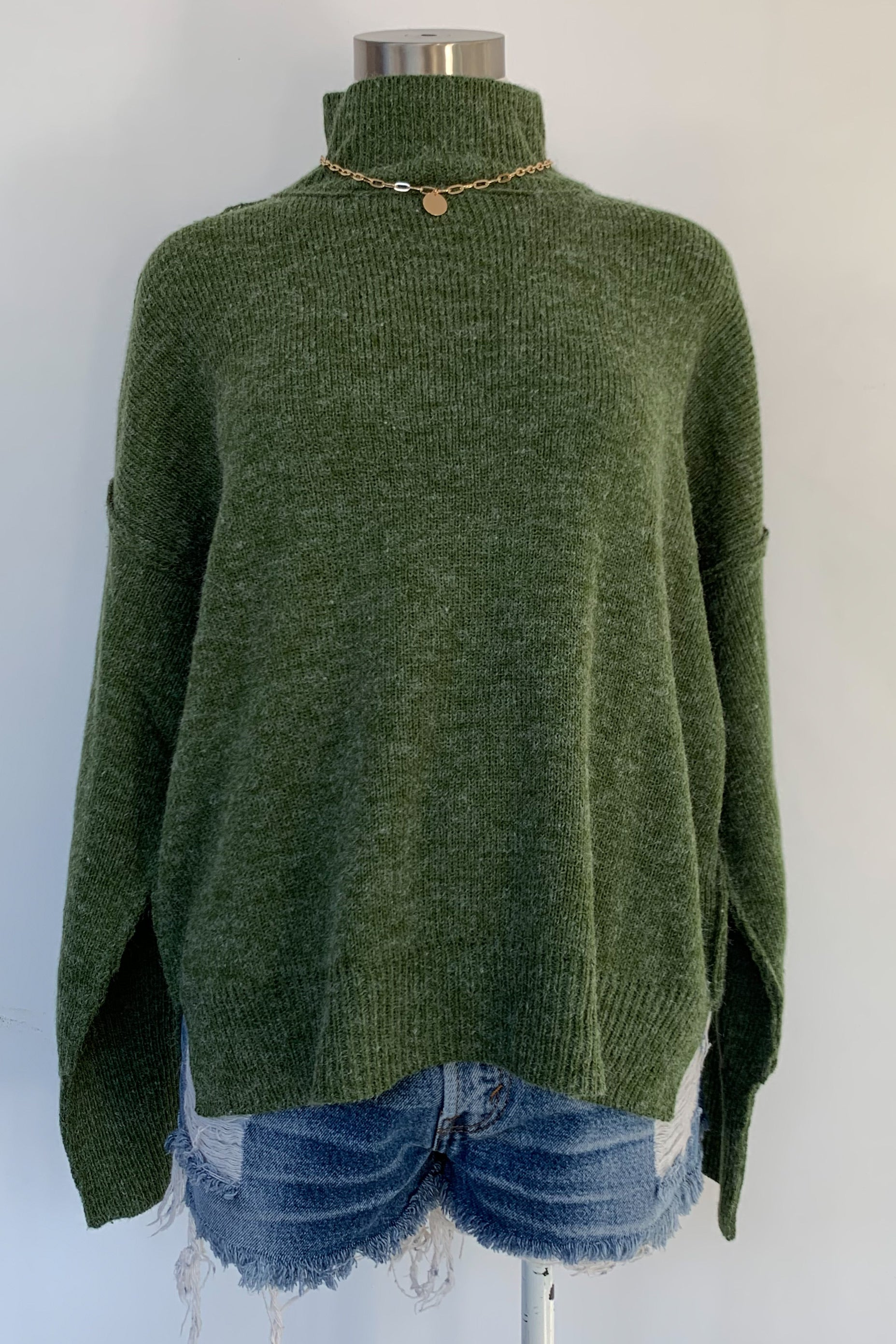 Mable Sweater-Olive