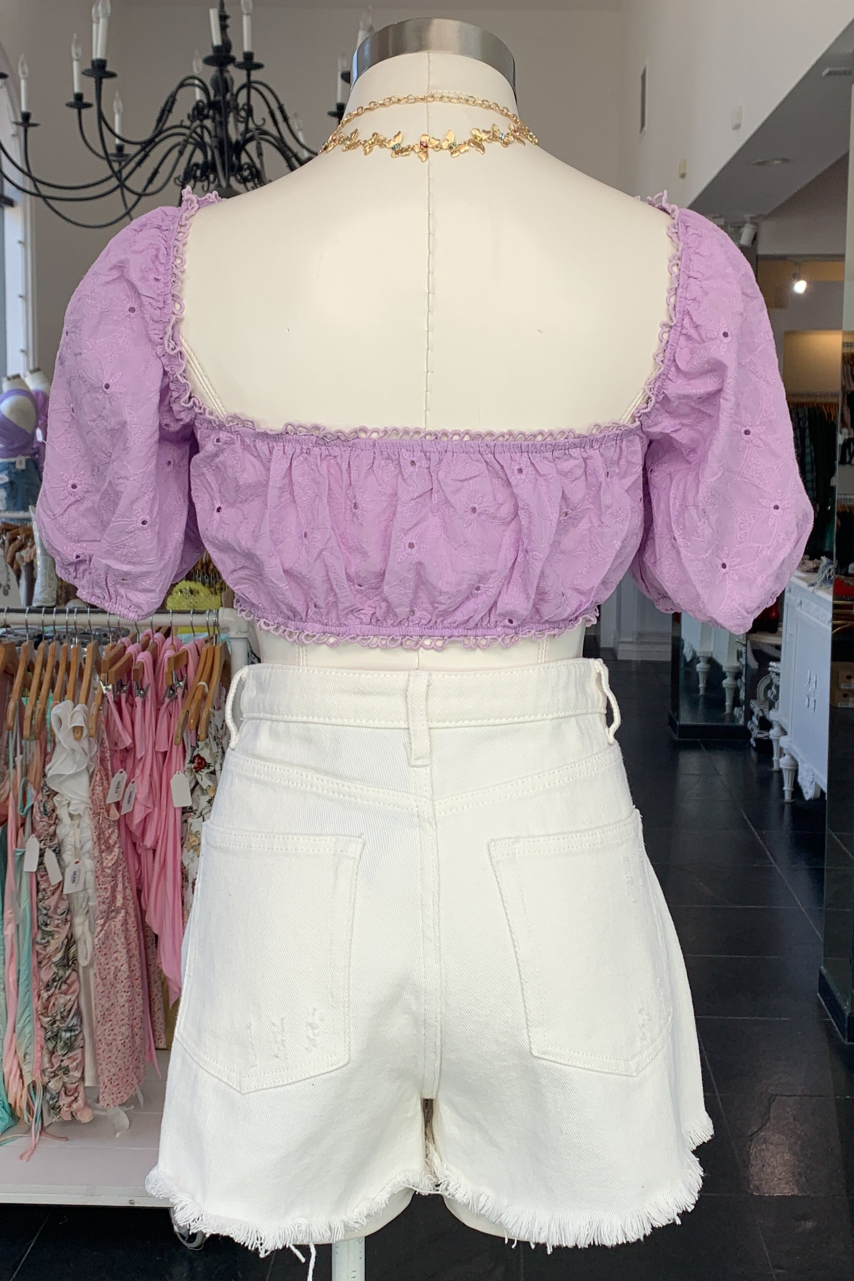 Cowgirl in LA Top-Lavender