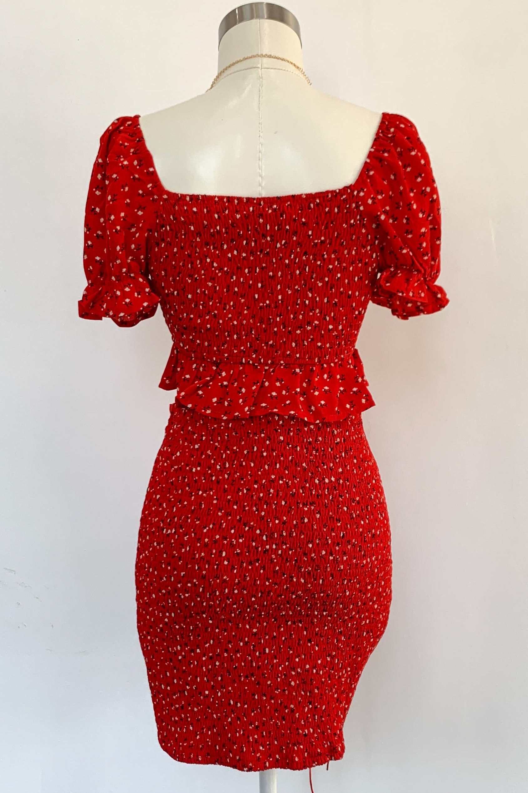 Kennedy Dress Set-Red Floral