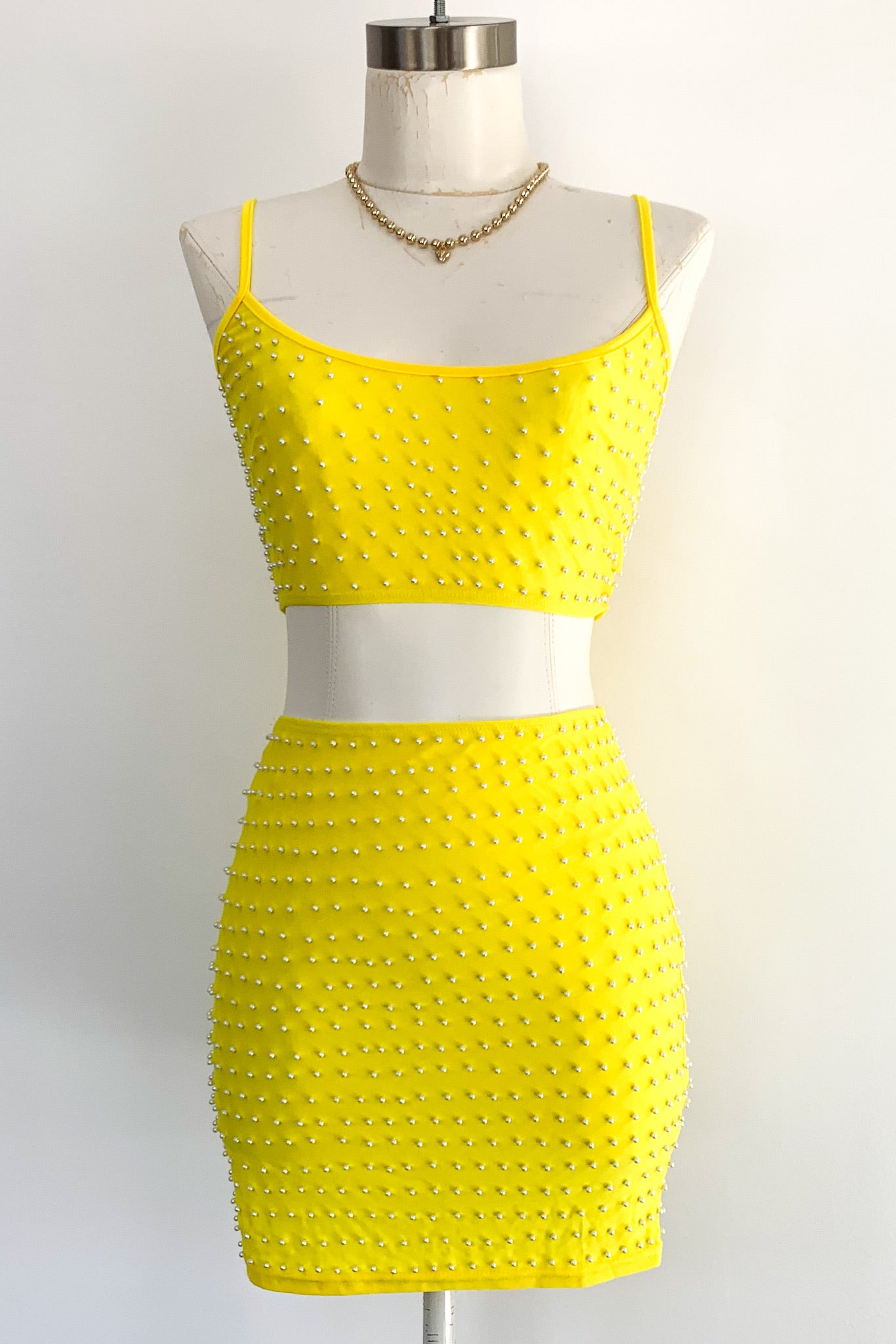 Tenille Dress Set-Yellow