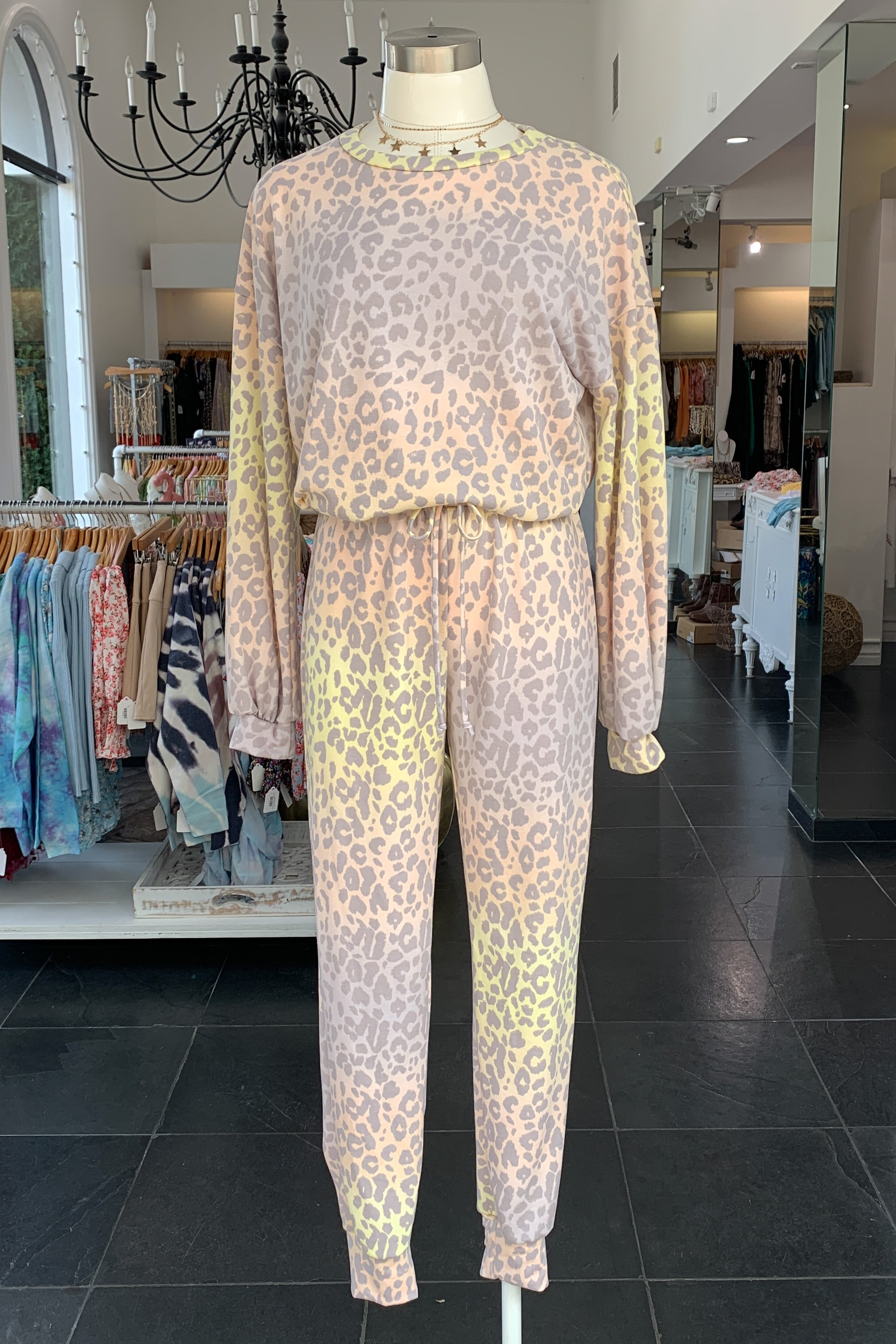 Electric Leopard Lounge Set