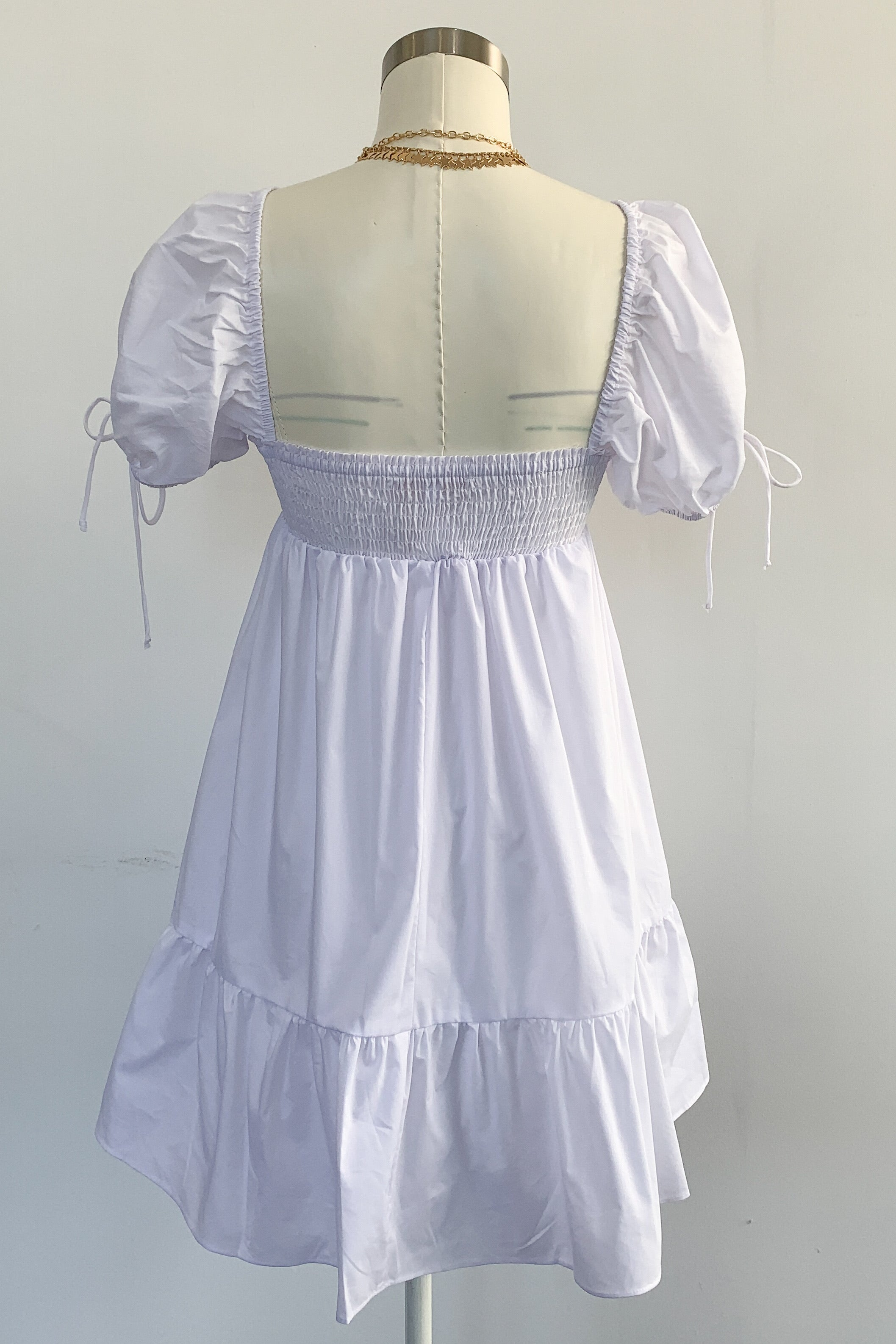 Tallulah Dress-White