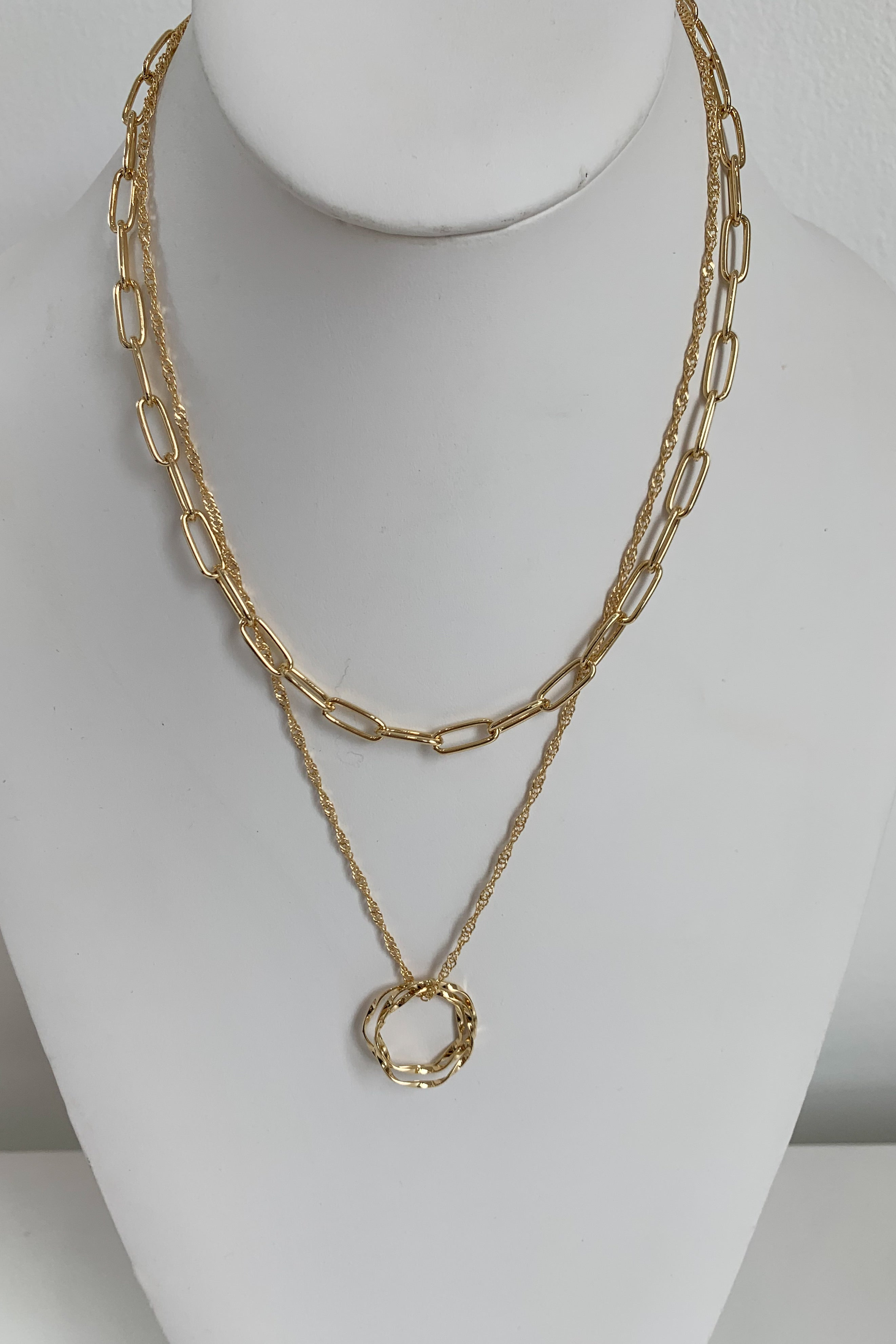 Golden Circle Necklace-Gold