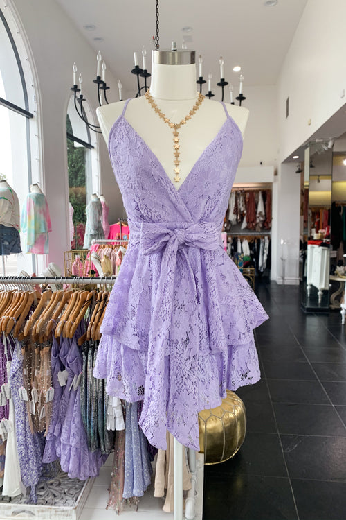 Girl From The South Romper-Lavender