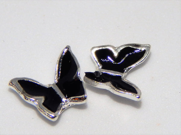 Black Butterfly Nail Charms (Set of 2)