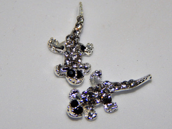 Sparkly Lizard Nail Charms (Set of 2)