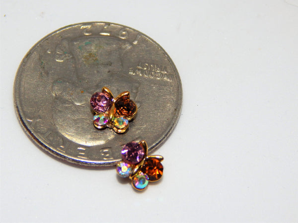 Sparkle Butterflies Nail Charms (Set of 2)