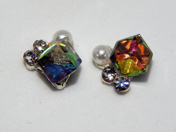 Sparkly Squares Nail Charms (Set of 2)