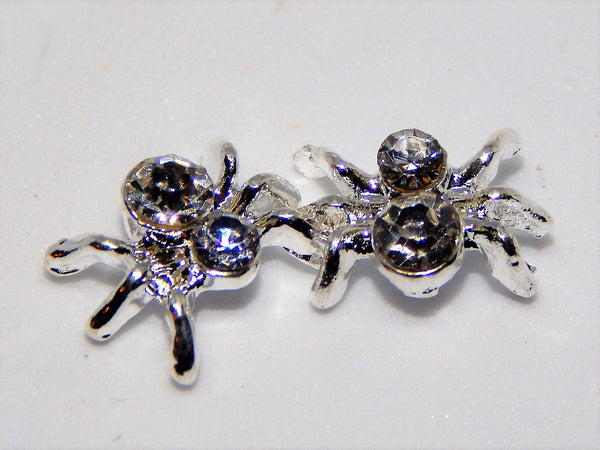 Sparkley Spider Nail Charms (Set of 2)
