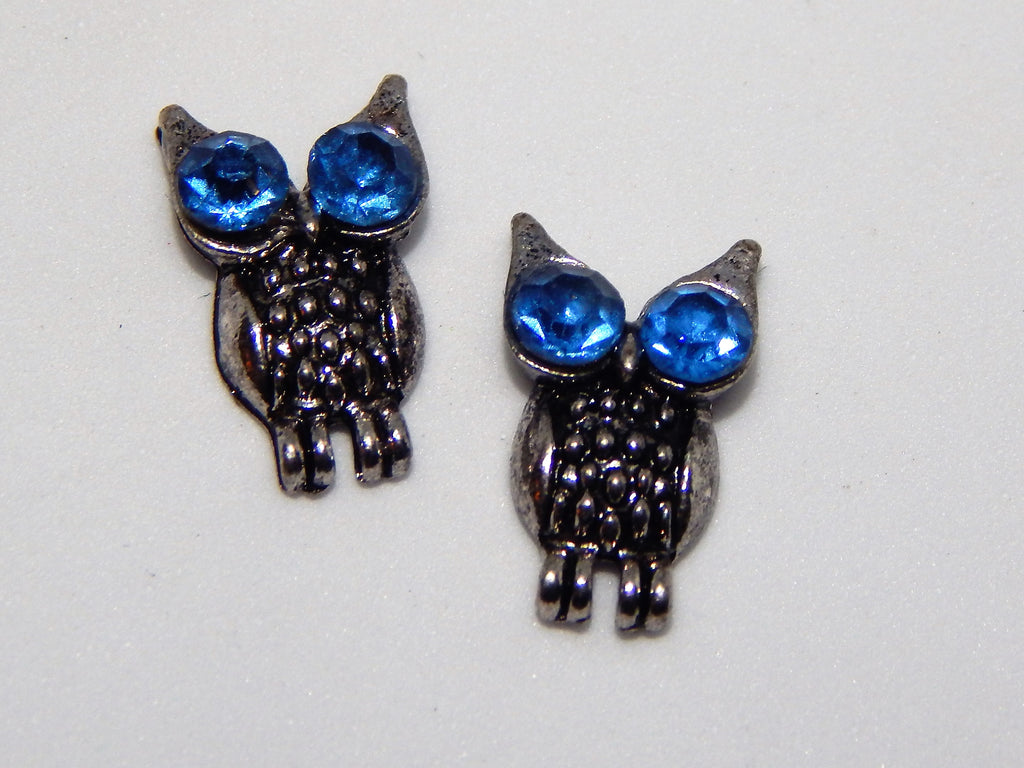 Sparkly Owls Nail Charms (Set of 2)