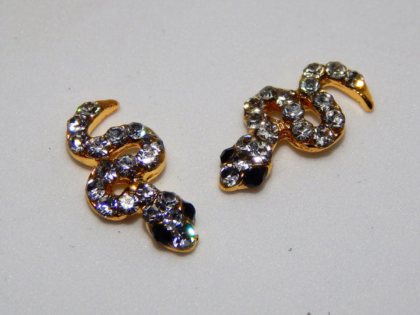 Sparkly Snakes Nail Charms (Set of 2)