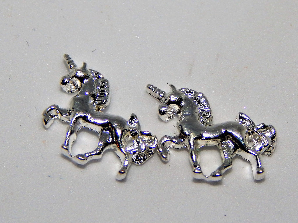 Silver Unicorn Nail Charms (Set of 2)