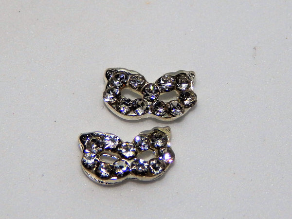 Sparkly Mask Nail Charms (Set of 2)